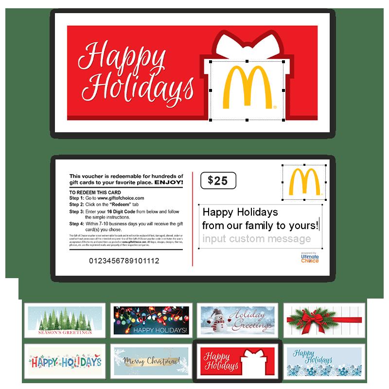 Gift Of Choice Design Customization